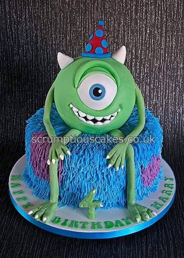 Astounding Monsters Inc Birthday Cake Cake By Scrumptious Cakes Cakesdecor Funny Birthday Cards Online Hendilapandamsfinfo