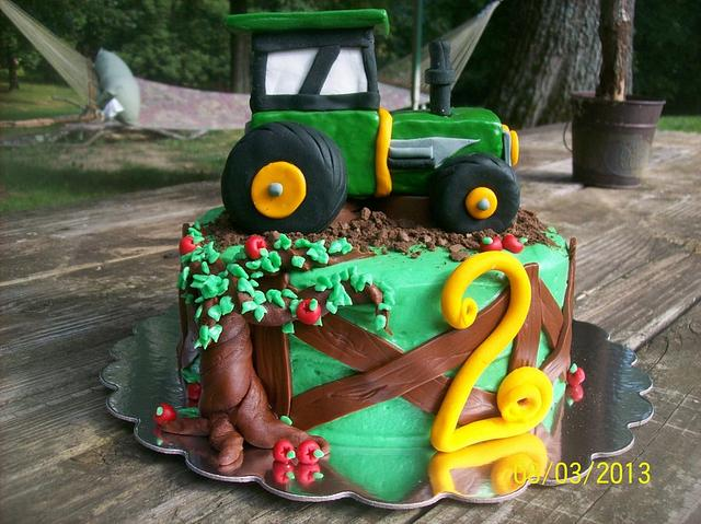 Outstanding John Deere Birthday Cake Cake By Chris Jones Cakesdecor Funny Birthday Cards Online Elaedamsfinfo