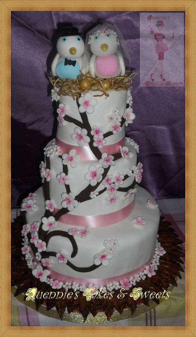 Wedding Cake - Bird Theme