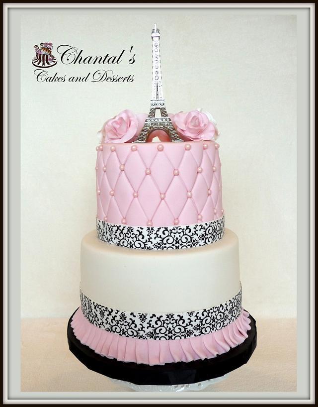 Surprising Paris Birthday Cake By Chantal Fairbourn Cakesdecor Funny Birthday Cards Online Alyptdamsfinfo