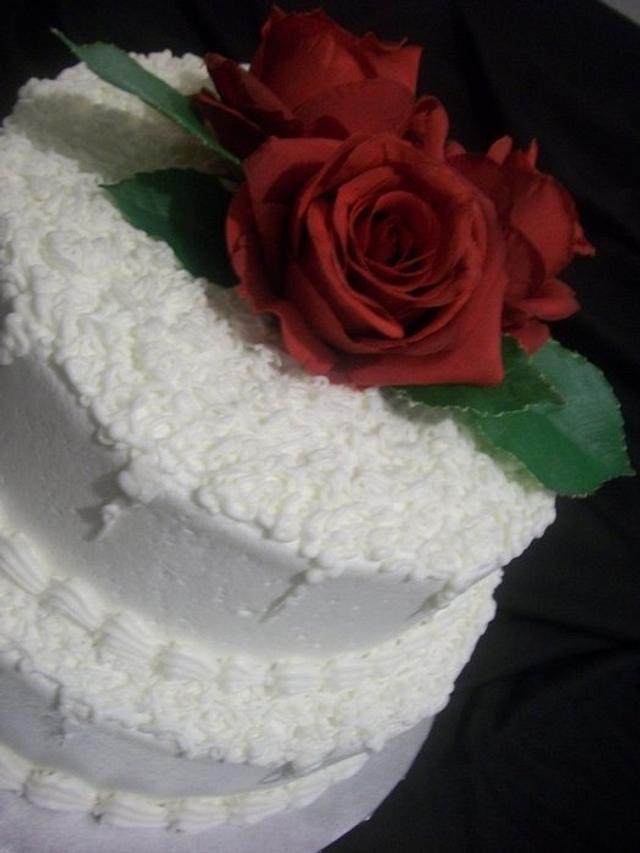 Buttercream Wedding Cake with Sota Technique