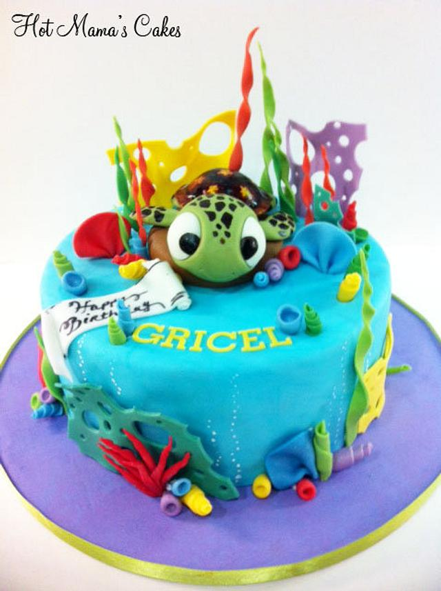Squirt cake from Finding Nemo