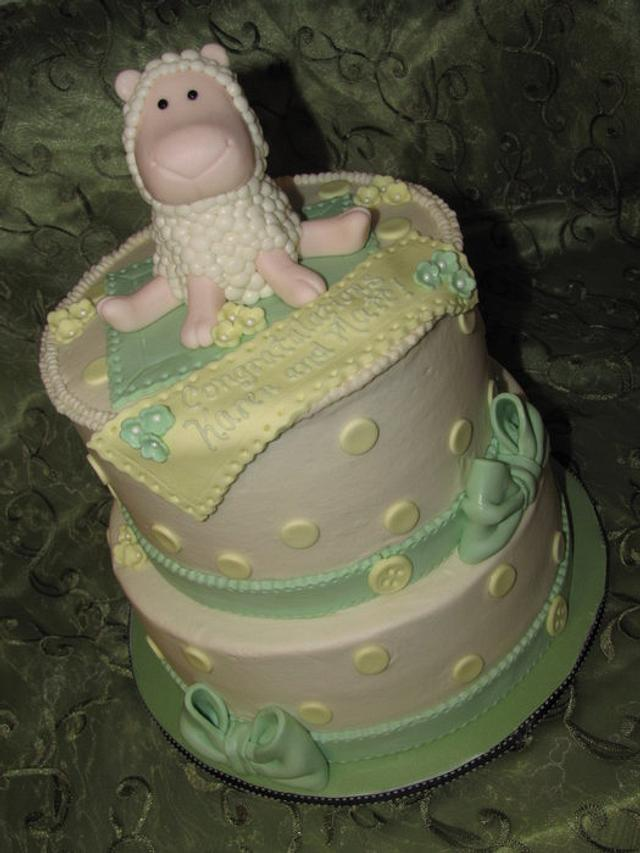 Lamb Baaaby Shower Cake