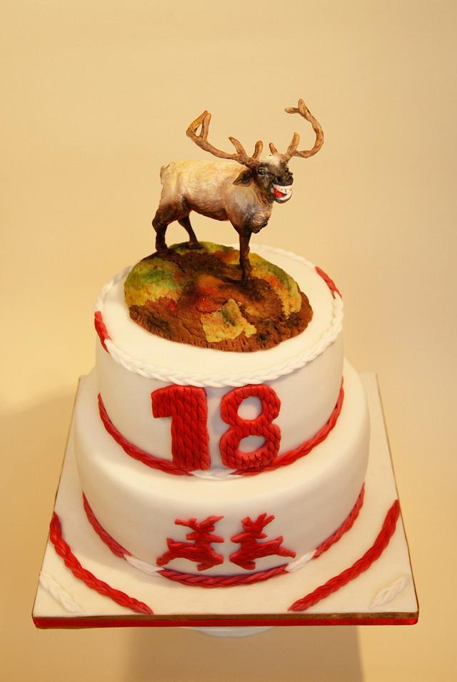 Reindeer on 18th birthday