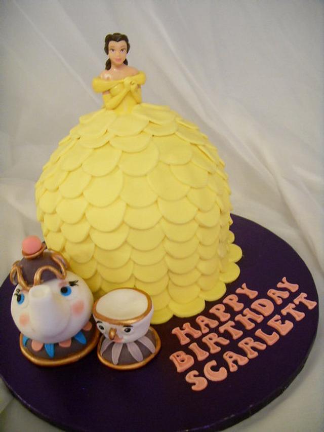 Prime Princess Belle Birthday Cake Cake By Christine Cakesdecor Birthday Cards Printable Trancafe Filternl