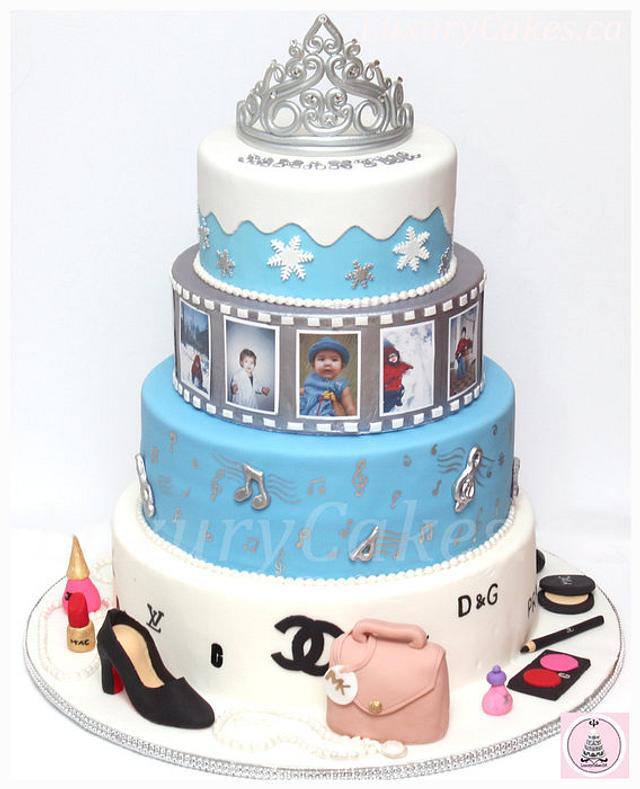 Miraculous Modern Winter Themed Birthday Cake Cake By Sobi Thiru Cakesdecor Funny Birthday Cards Online Elaedamsfinfo
