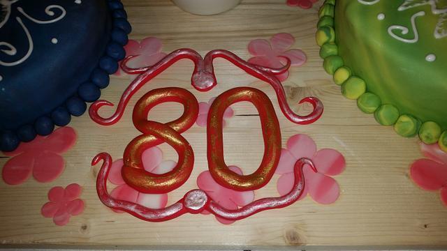 80`Anniversary Cake....