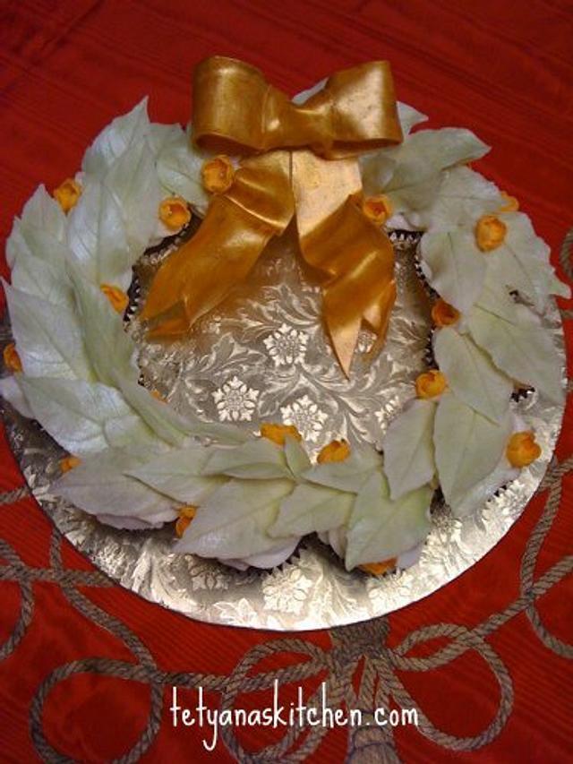 White Wreath cupcakes