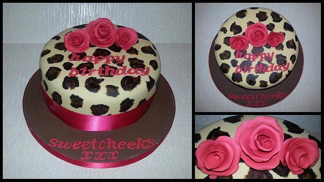 Red Rose & Leopard Print