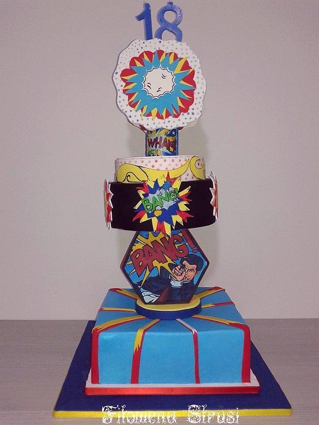 Lichtenstein Cake