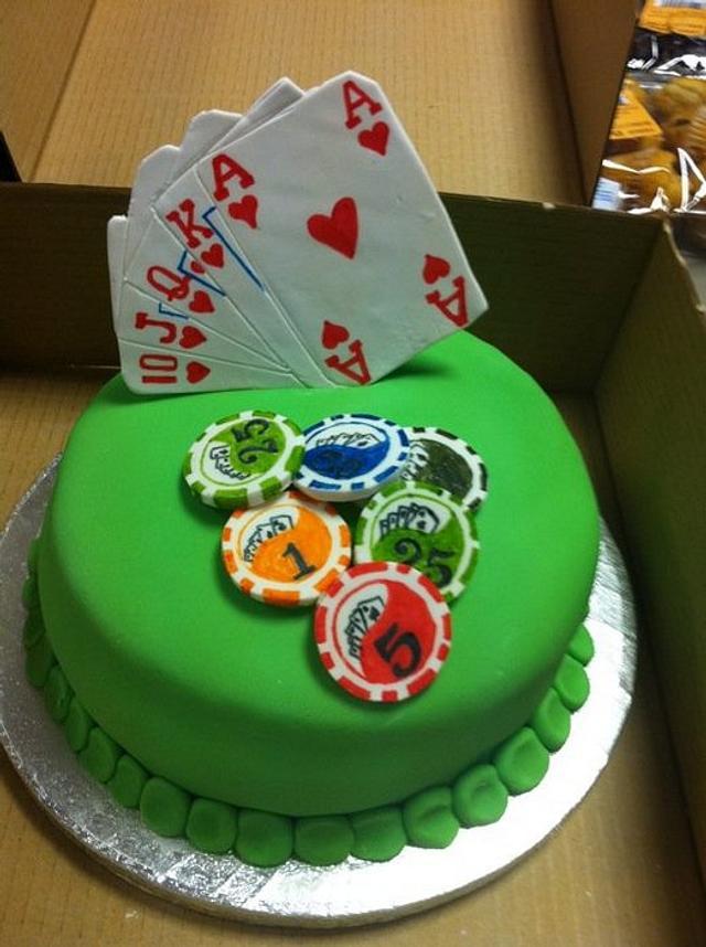Poker Cake
