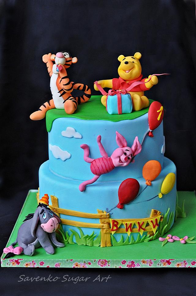Pleasant Winnie The Pooh Birthday Cake Cake By Savenko Sugar Art Cakesdecor Funny Birthday Cards Online Necthendildamsfinfo