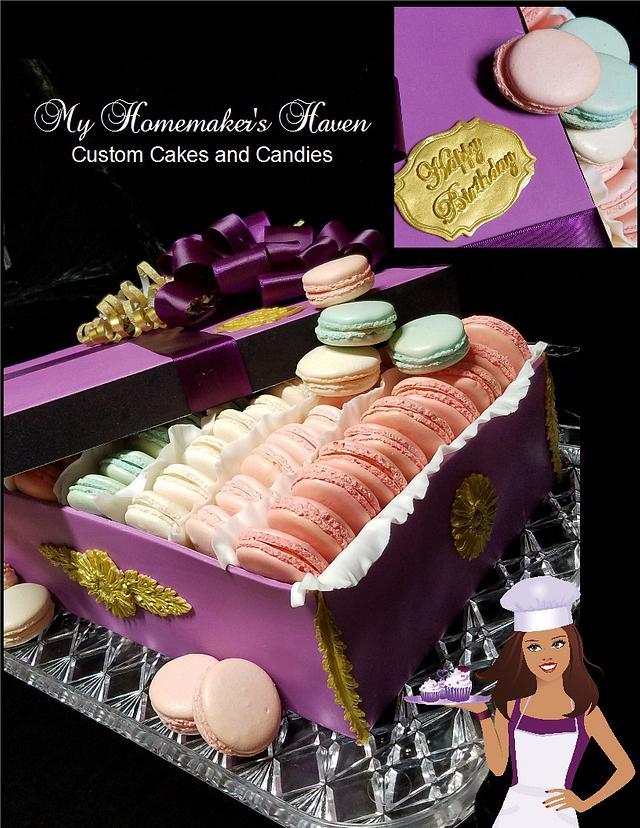 Macaron Gift Box Birthday Cake