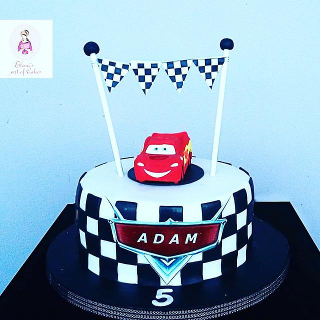 Mcqueen racing  cake
