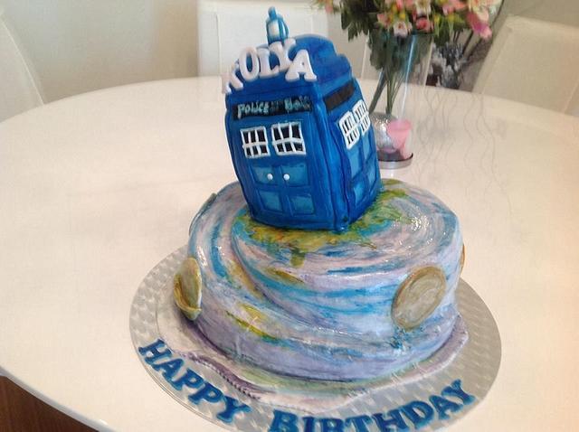 Peachy Dr Who Cake By Malika Cakesdecor Funny Birthday Cards Online Alyptdamsfinfo
