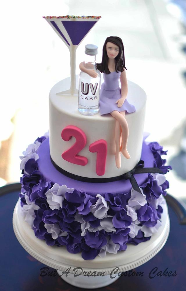 Wondrous 21St Birthday Cake Cake By Elisabeth Palatiello Cakesdecor Personalised Birthday Cards Beptaeletsinfo