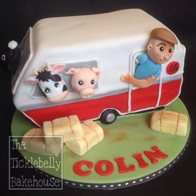 Farm caravan cake