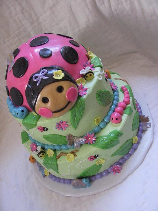 Miraculous Ladybug 1St Birthday Cake By Tiffany Palmer Cakesdecor Birthday Cards Printable Giouspongecafe Filternl