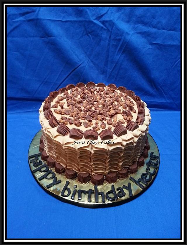 Reeses Cup Chocolate Peanut Butter Cake
