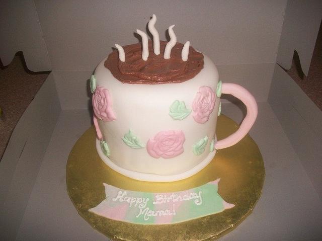 Coffee Mug Birthday Cake