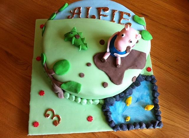 George The Pig Cake
