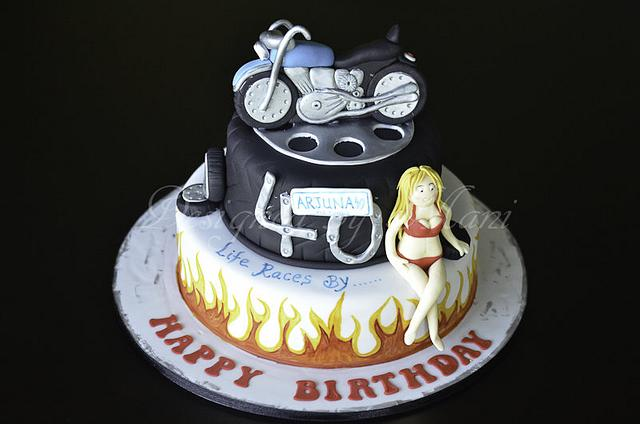 40th birthday cake.