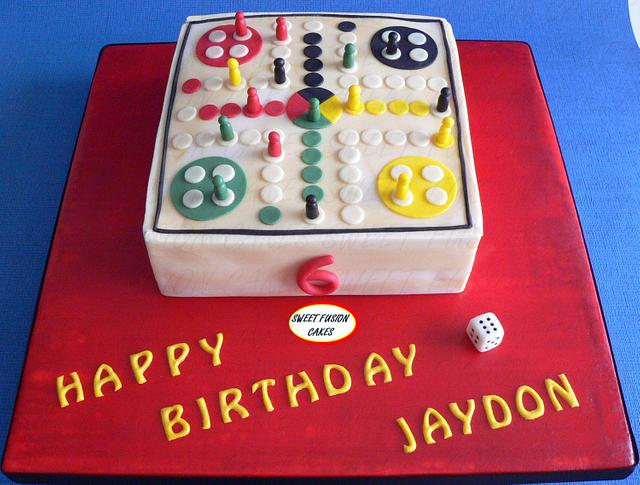 Astonishing Wooden Ludo Board Game Cake By Sweet Fusion Cakes Cakesdecor Birthday Cards Printable Nowaargucafe Filternl