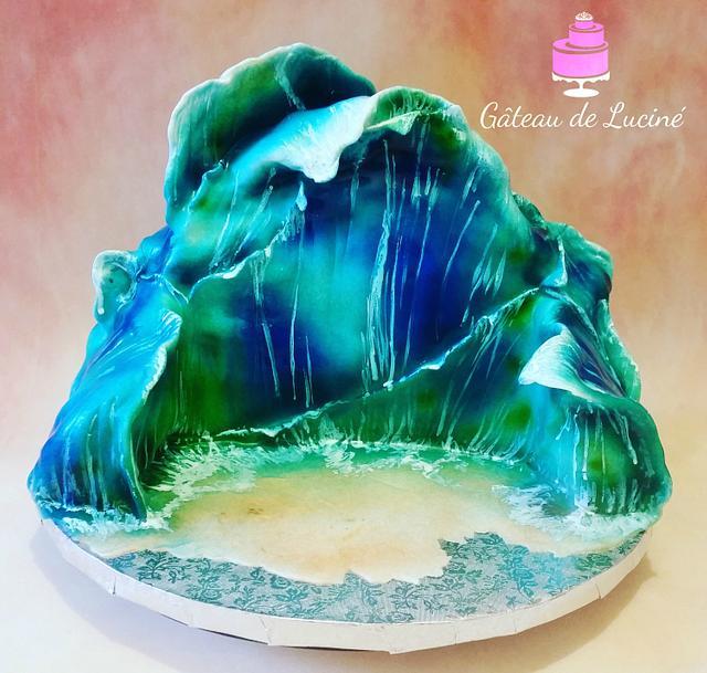 """""""Waves of ocean"""" 3D cake"""