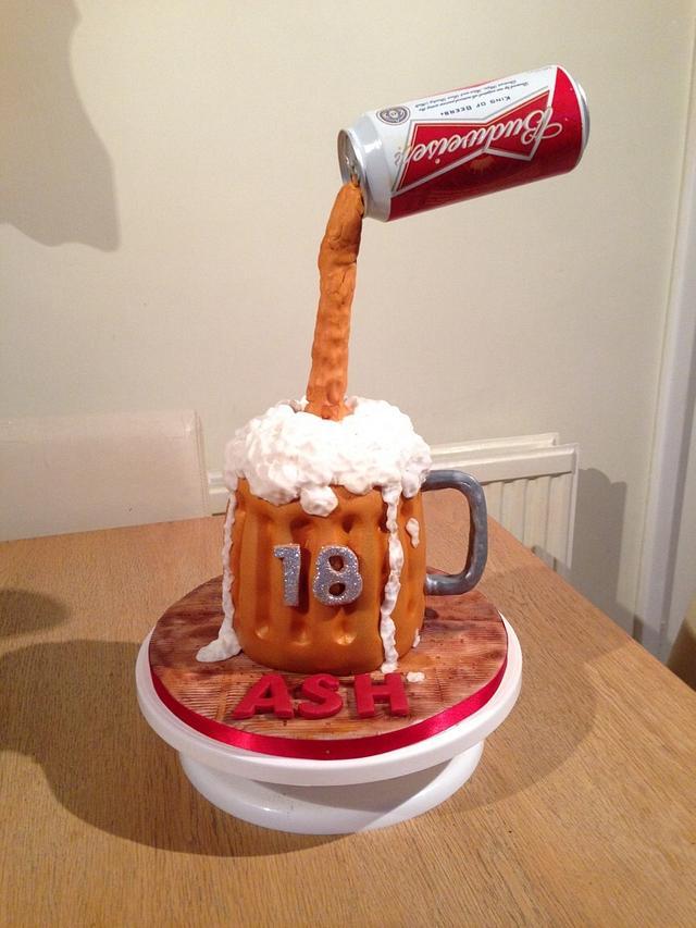 Fantastic Budweiser Gravity Cake Cake By Donna Sanders Cakesdecor Funny Birthday Cards Online Elaedamsfinfo