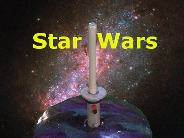Star Wars LED Lightsaber Mirror Cake
