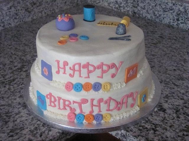 Sewing Birthday Cake