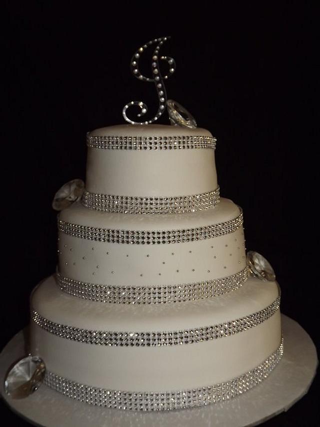 Strange Birthday Cake Bling Cake By Any Cakesdecor Personalised Birthday Cards Veneteletsinfo