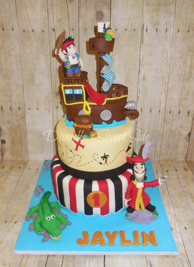 Marvelous Jake And The Neverland Pirates Birthday Cake Cake By Cakesdecor Funny Birthday Cards Online Inifodamsfinfo