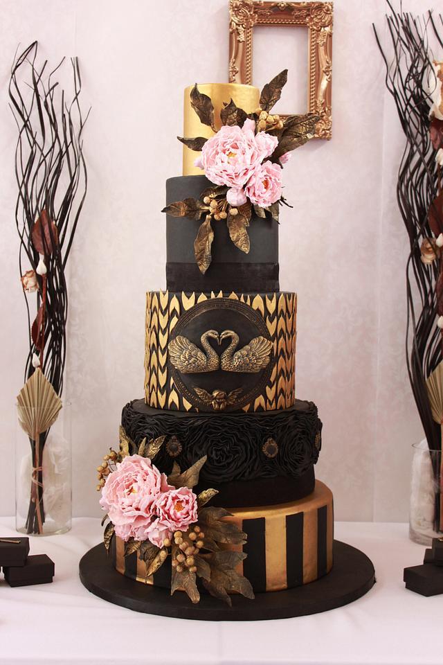 Black Swan Wedding Cake