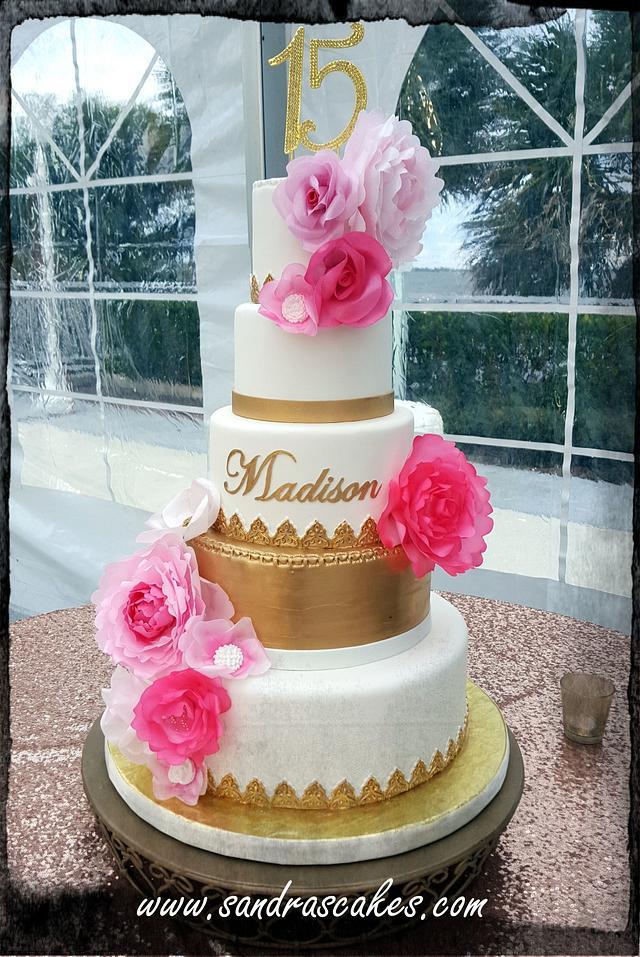 Modern Quinceañera Cake