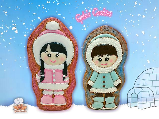 Cute eskimo cookies