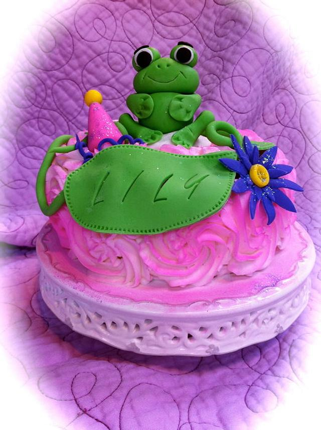 Frog and Flowers Birthday