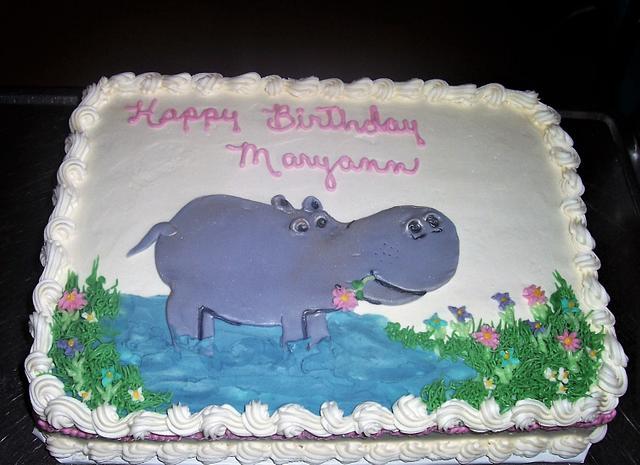 Miraculous A Hippo Birthday Cake By Bettya Cakesdecor Personalised Birthday Cards Akebfashionlily Jamesorg