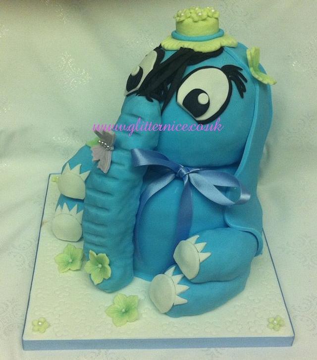 Blue 3D Elephant