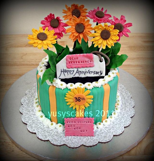 Daises Flowers Cake