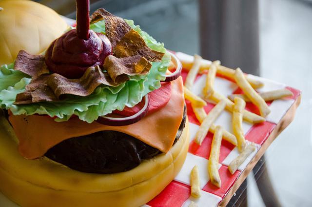 Gravity Defying Hamburger Cake