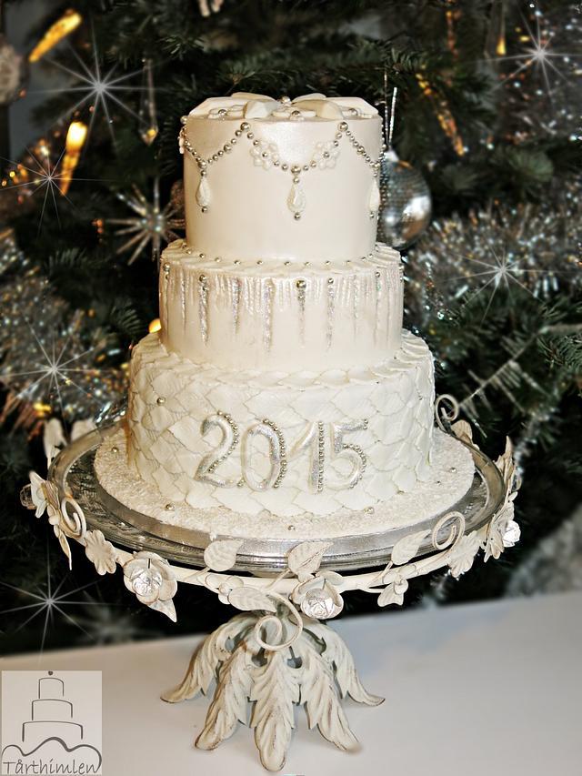 Winter New Year's Eve cake.