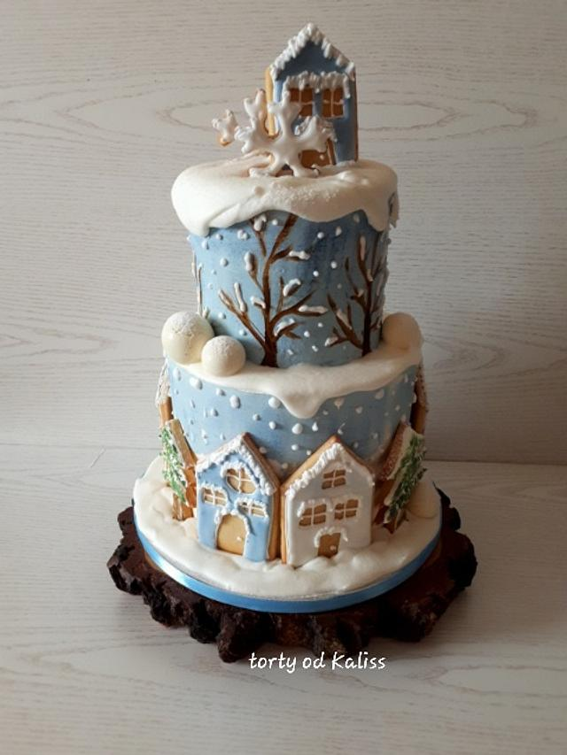 Swell Winter Birthday Cake By Kaliss Cakesdecor Funny Birthday Cards Online Eattedamsfinfo