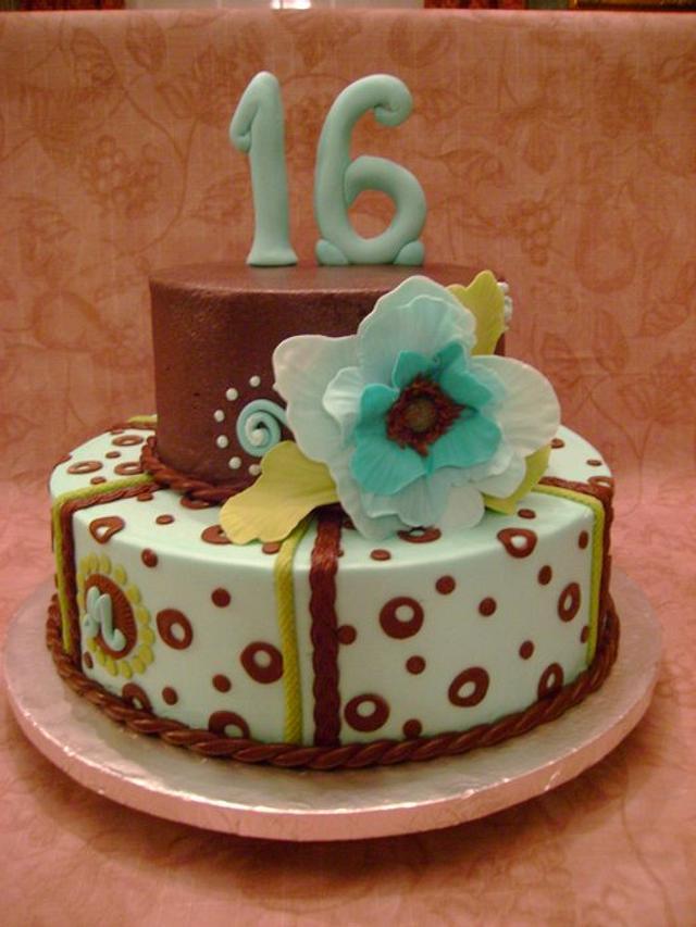 Freeform Flower Cake