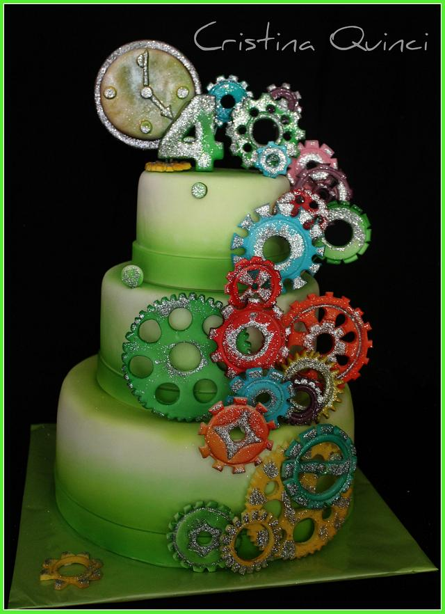 Gears of time Cake