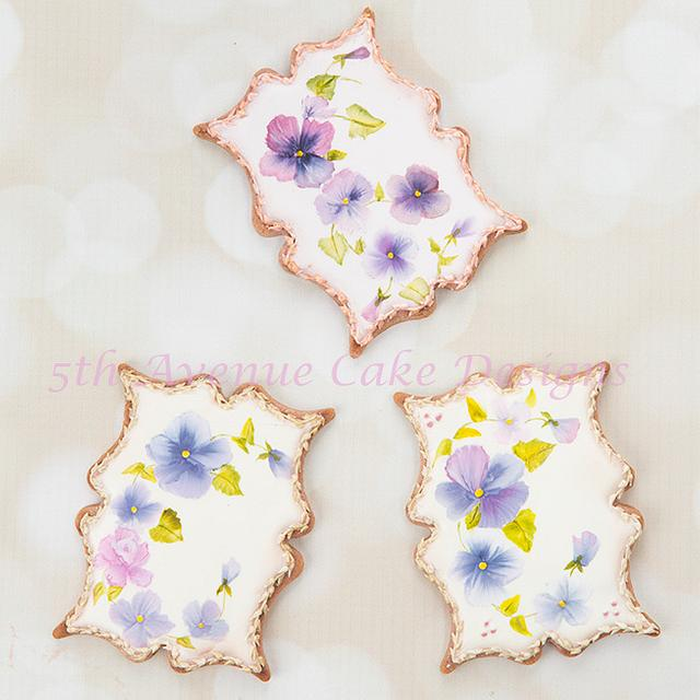 Hand Painted Pansy Cookies 🖌️🖌️🎨💐