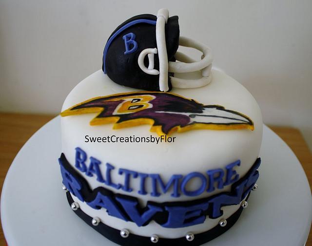 Football(Ravens) Cake