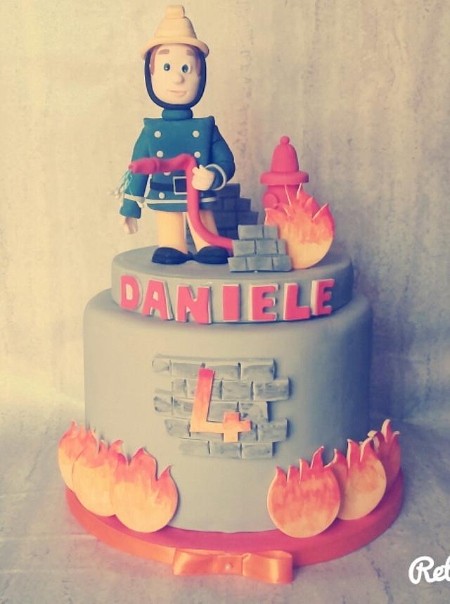 Sam the Fireman cake