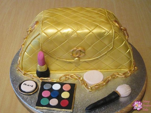 Gold Handbag Cake