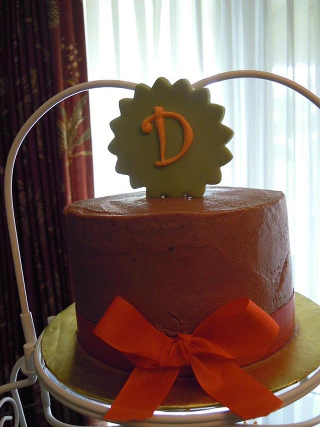 Chocolate, Green and Orange Bridal Shower Cupcake Tower